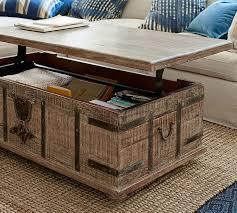 lift coffee table with regard to kaplan trunk pottery barn decor 17