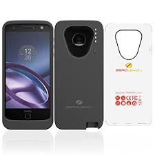 motorola moto z. motorola moto z battery case, zerolemon 7500mah extended with soft tpu full