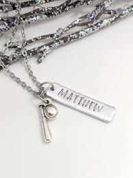 personalized baseball necklace baseball mom jewelry softball player pendant customized player necklace