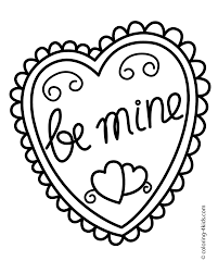 Valentine S Day Heart Coloring Pages
