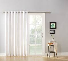 sliding glass door curtains mainstays blackout energy efficient extra wide sliding glass door grommet curtain lxsiftl