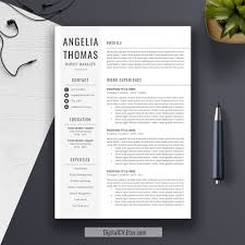 professional resume template cover letter word us letter a professional resume template cover letter word us letter cv template creative modern simple resume instant angelia by digitalcv on