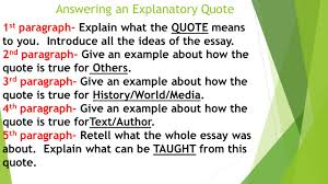 writing an explanatory essay quote by miss d valente school no  answering an explanatory quote