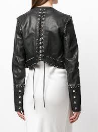 sel black gold looket leather jacket women