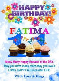 Happy Birthday Fatima Wishes Cake Status Images Gif Songs
