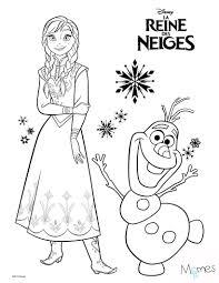 Coloriage Reine Des Neiges Anna Et Olaf Coloriage Reine Des