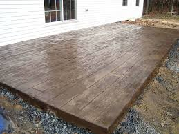 patio ideas pouring elevated concrete patio building raised deck over concrete patio stamped concrete made