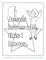 Jesus Loves Me Coloring Page At Getdrawingscom Free For Personal