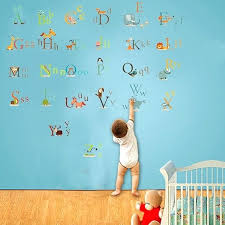 wall decals letter animal alphabet letters wall stickers for kids room