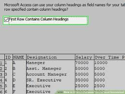 How To Create A Database From An Excel Spreadsheet With Pictures