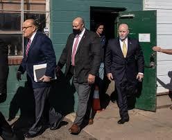 Rudy giuliani has had a month. Ex Nypd Honcho Bernie Kerik At Four Seasons Presser With Giuliani New York Daily News