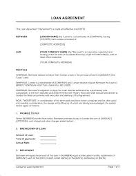 Free Loan Agreement Classy Money Owed Agreement Template Repayment Monthly Payment Contract