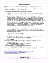 Objective For Graduate School Resume Examples Graduate School Admissions Resume Sample Personal Statement 97