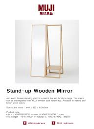 Muji Coat Rack Ash wood framed standing mirrors to match the ash furniture range 18