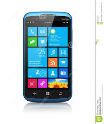Modern Smartphone With Touchscreen Interface Stock Illustration