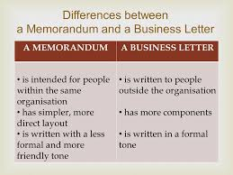 Memorandums And Letters Powerpoint Difference Between Memo And Letter Ppt Presentation