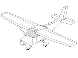 c 172 line drawing oblique svg