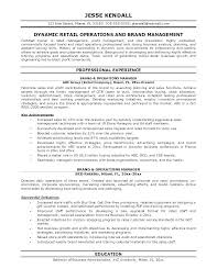 Resume Examples Professional Adorable Retail Manager Resume Examples And Samples Sample Of Office R