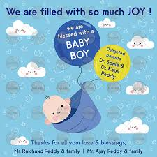 Be01 Baby Boy Announcement Ecard
