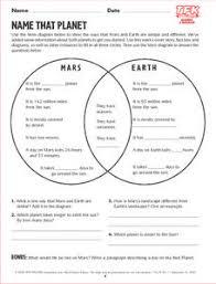 Earth Moon Venn Diagram Venn Diagram Of Earth And Moon Lesson Plans Worksheets