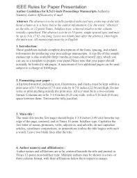 Resume Ieee Paper Resume Examples Resume Template