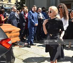 Franca Sozzani and Afef Jnifen leave the Marta Marzotto funeral at... News  Photo - Getty Images