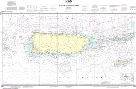 Puerto Rico Charts Noaa Nautical Chart 25640 Puerto Rico And Virgin Islands
