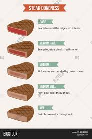 Rare Meat Chart Steak Doneness Chart Vector Photo Free Trial Bigstock