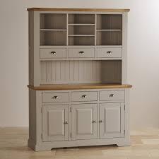 grey painted furnitureNatural oak and light grey painted large dresser