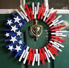 patriotic wreaths for front door4th of July Burlap Wreath Door Home Decor Flag Stripe Patriotic