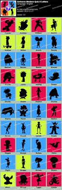 Cartoons Shadow Quiz 6 Letters