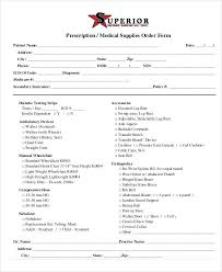 Physician Standing Orders Template Medical Order Forms Free Word Form