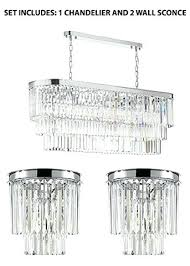 odeon chandelier two tier