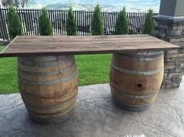 wine barrel outdoor furniture. Rustic Wine Barrel Bar Outdoor Furniture .