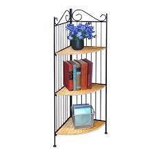 Wicker Corner Shelves 100D Concepts 100 Tier Wicker Metal Corner Bookcase Hayneedle 88