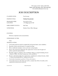 Resume Sample For Front Desk Receptionist Unique Synonyms For
