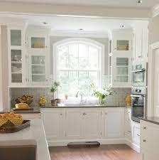 kitchen bay window seat tall glass front upper cabinet 3 tier fruit bas oak wood kitchen
