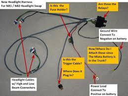 nb1 to nb2 headlight wiring harness info mx 5 miata forum