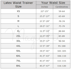 Luxx Health Waist Trainer Size Chart Waist Training Size Chart World Of Reference