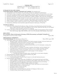Qualifications Summary Resume Example