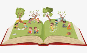 vector tree with cartoon children s books tree clipart cartoon clipart cartoon children png