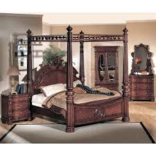 cherry wood bedroom set. Corina Dark Cherry Wood Bedroom Set - YTF-CR1000-SET E