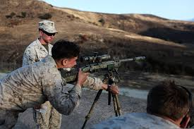 Marine Corps Scout Sniper File U S Marine Corps Scout Snipers With Weapons Company 1st