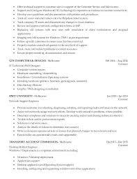 Support Technician Resume It Tech Resume Template