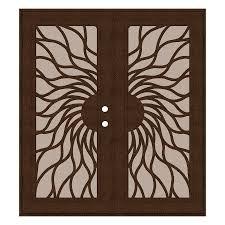 aluminum security screen door. TITAN Powder-coat Copperclad Aluminum Surface Mount Double Security Door (Common: 72- Screen D