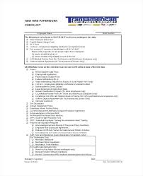 Employee New Hire Checklist Template Word Orientation And Excel ...