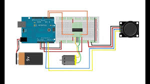 arduino projects controlling dc motor with l293d or l298n motor driver and joystick