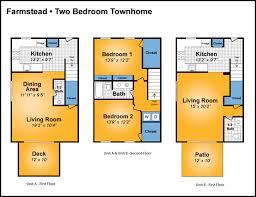 3 Bedroom Townhouse Floor Plans  NrtradiantcomTownhomes Floor Plans