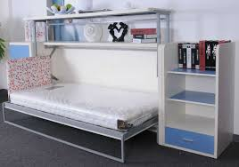 MurphySofa Single side folding bed with desk bed down ...