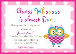 baby shower invitations for girls templates owl baby girl shower invitations sansalvaje com